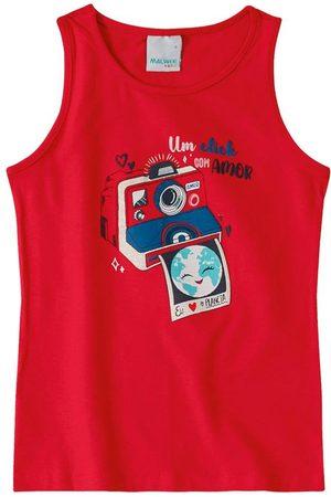 MALWEE KIDS Blusa Vermelha um Click com Amor em Cotton