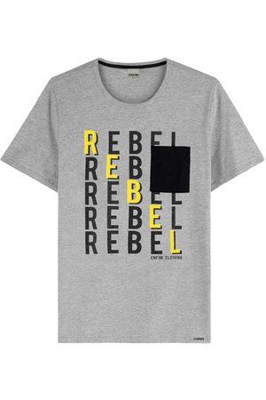 ENFIM Camiseta Mescla Tradicional Rebel