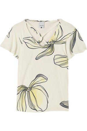 Malwee Blusa Floral Tiras Cruzadas