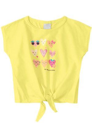 MALWEE KIDS Blusa Amarela Corações com Amarração Menina