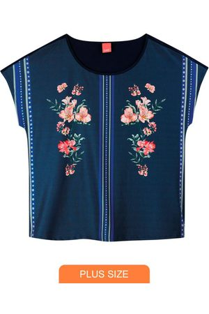 Wee Malwee Blusa Marinho Ampla Floral