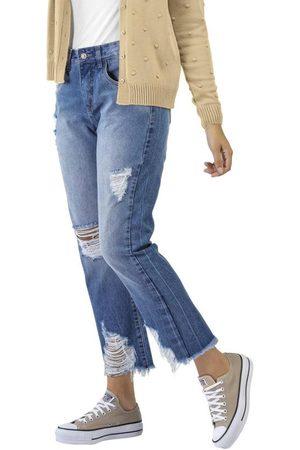 Angel Mulher Calça Boyfriend - Calça Jeans Boyfriend