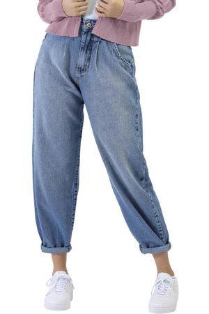 Angel Mulher Calça Boyfriend - Calça Jeans Baggy
