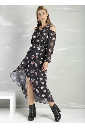 Miss Peck Mulher Vestido Estampado - Vestido com Transpasse Estampado