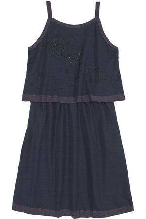 Quimby Menina Vestidos - Vestido Infantil Alcinha Escuro