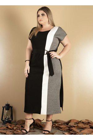 Donna Peck Mulher Vestido Longo - Vestido com Recorte