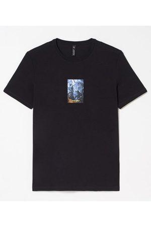 Request Homem Camisolas de Manga Curta - Camiseta Manga Curta Estampa Foto Legenda | | | P