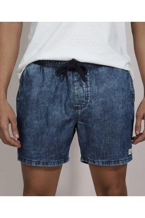 Clockhouse Homem Short - Short Jeans Marmorizado com Cordão Médio