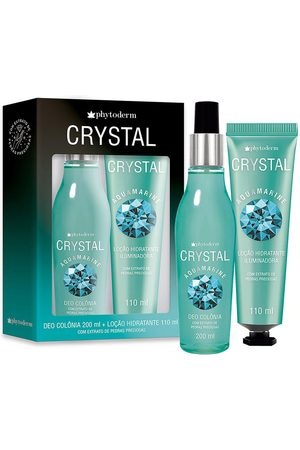 Phytoderm Kit Colônia Crystal Aquamarine Splash 200ml + Loção Iluminadora 100ml único