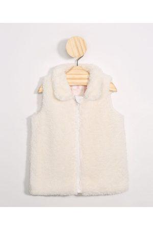 Baby Club Colete Infantil de Pelo Gola Esporte Off White