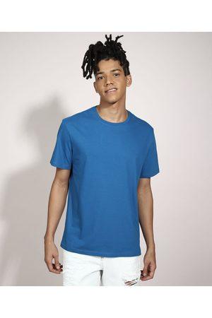 Basics Homem Camisolas de Manga Curta - Camiseta Básica Manga Curta Gola Careca