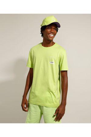 Pantone Camiseta de Algodão Manga Curta Gola Careca