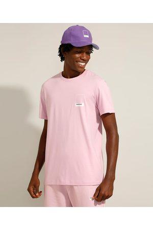 Pantone Homem Camisolas de Manga Curta - Camiseta de Algodão Manga Curta Gola Careca