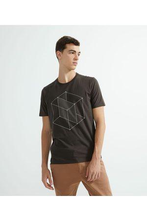 Request Homem Camisolas de Manga Curta - Camiseta Manga Curta com Estampa       G