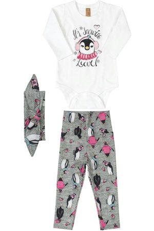 Up Baby Menina Body - Conjunto Body em Cotton e Calça