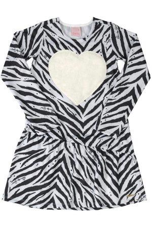 Quimby Menina Vestido Estampado - Vestido Infantil Animal Print