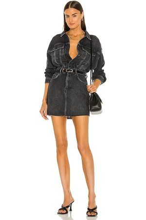 AllSaints Jaqueta Couro - Jacket Dress in Black. - size 0 (also in 00, 10, 2, 4, 6, 8)