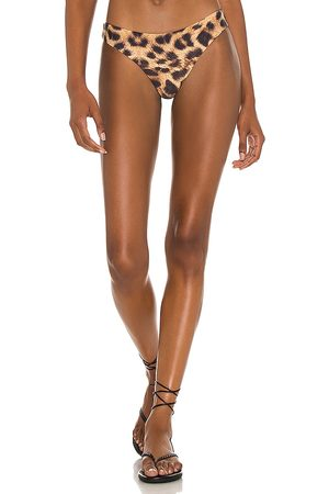 PQ X REVOLVE Basic Ruched Teeny Bikini Bottom in Brown. - size L (also in M, S)