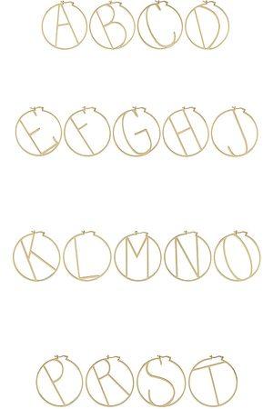 Retrofete Brincos - Hoop Alphabet Earring in Metallic . - size A (also in J, K, M, S)