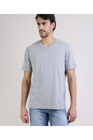 Basics Camiseta Masculina Básica Manga Curta Gola em V