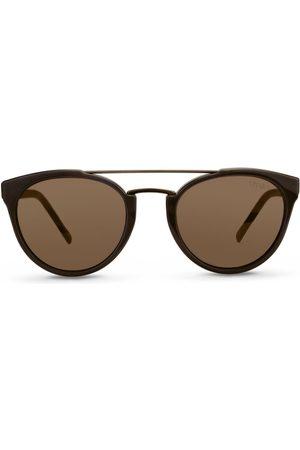 Vivara Óculos de Sol - Óculos de Sol Redondo em Aço e Acetato Marrom