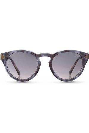 Vivara Óculos de Sol - Óculos de Sol Redondo em Aço e Acetato Azul