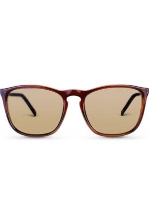 Vivara Homem Óculos de Sol - Óculos de Sol Quadrado em Acetato Marrom