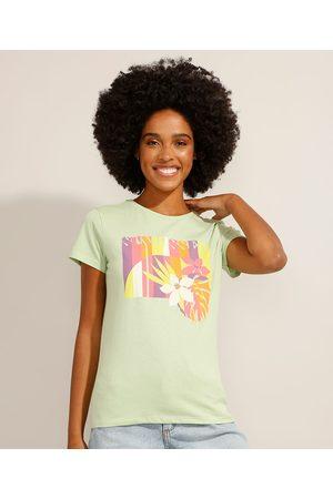 "YESSICA Mulher Camiseta - Camiseta de Algodão Sunkissed"" Manga Curta Decote Redondo Claro"""