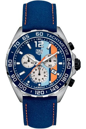 Vivara Homem Relógios - Relógio TAG Heuer Masculino Couro Azul - CAZ101N.FC8243