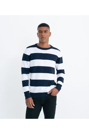 Marfinno Suéter Tricot Comfort Listrado | | Multicores | G