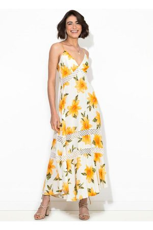 Farm Vestido Cropped Menina de Flor Off White