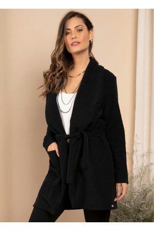 QUINTESS Mulher Trench Coat - Sobretudo Alongado com Bolsos e Faixa