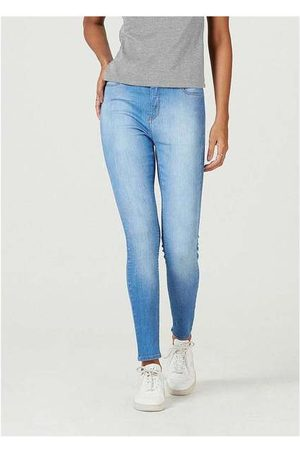 Hering Mulher Calça Skinny - Calça Jeans Feminina Super Skinny com Elastano Azu
