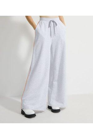 Blue Steel Calça Pantalona em Moletom com Detalhe Lateral Contrastante | | | P