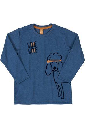 Up Baby Menino Camisolas de Manga Curta - Camiseta Manga Longa Estampada