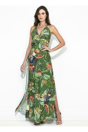 Colcci Mulher Vestido Estampado - Vestido Longo Estampado