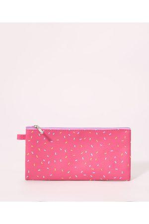 C&A Necessaire Estojo Estampada de Granulados Rosa
