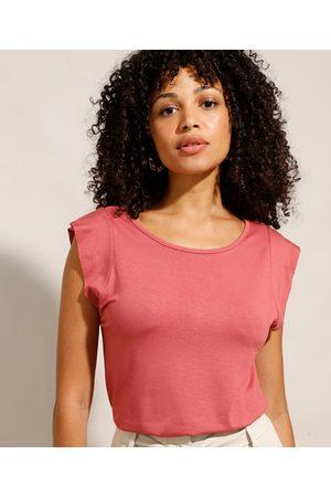 City Mulher Blusas tipo Regata - Regata Muscle Tee Básica com Recorte Decote Redondo Escuro
