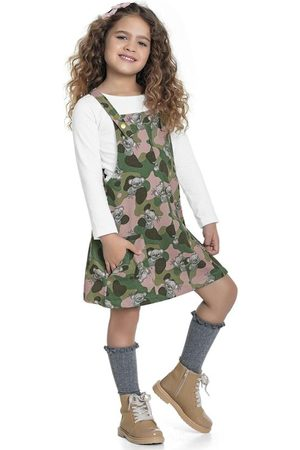 Fakini Kids Menina Jardineira - Salopete Estampada
