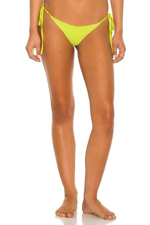 Frankies Bikinis Sky Ribbed Bikini Bottom in Yellow. - size L (also in M, S, XS)