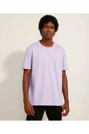 Basics Camiseta Básica Manga Curta Gola Careca Claro