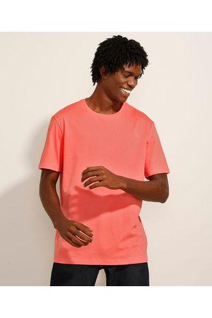 Basics Camiseta Básica Manga Curta Gola Careca Coral