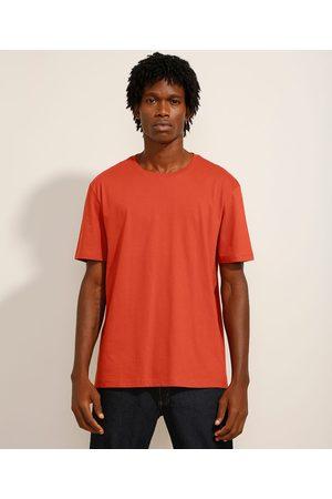 Basics Homem Camisolas de Manga Curta - Camiseta Básica Manga Curta Gola Careca Cobre