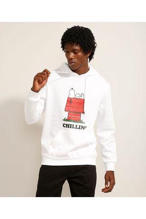 Snoopy Blusão de Moletom Bolso e Capuz