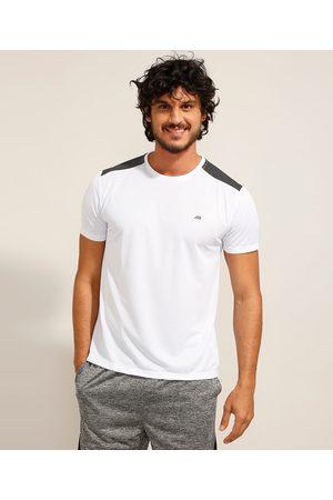 ACE Homem Manga Curta - Camiseta Masculina Esportiva com Recorte Manga Curta Gola Careca Branca