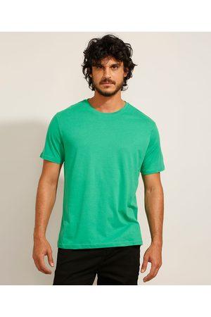 Basics Camiseta Masculina Básica Manga Curta Gola Careca