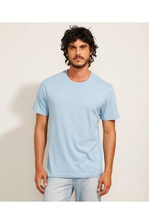 Basics Homem Camisolas de Manga Curta - Camiseta Básica Manga Curta Gola Careca Claro