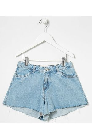 Fuzarka Short Infantil Jeans Liso - Tam 5 a 14 anos       13-14