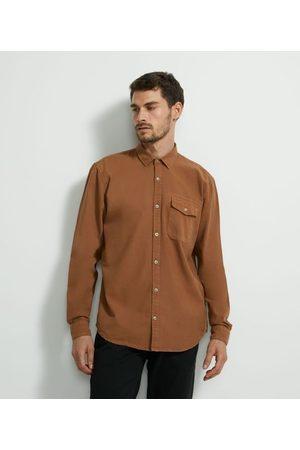 Marfinno Homem Camisa Manga Comprida - Camisa Manga Longa em Oxford Bolso | | | G