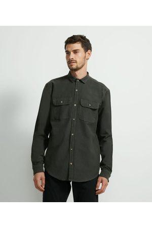 Marfinno Homem Camisa Formal - Camisa Lisa em Sarja Pesada | | | P